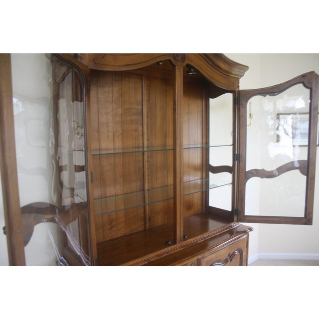 Ethan Allen Country French China Cabinet and Buffet - Image 6 of 8