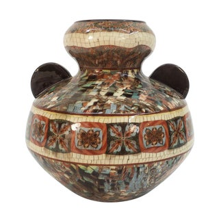 Mosaic Pottery Vase by Gerbino For Sale