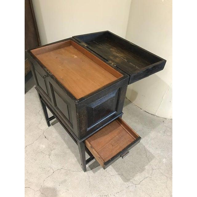 English Oak Silverware Stand For Sale In Boston - Image 6 of 9