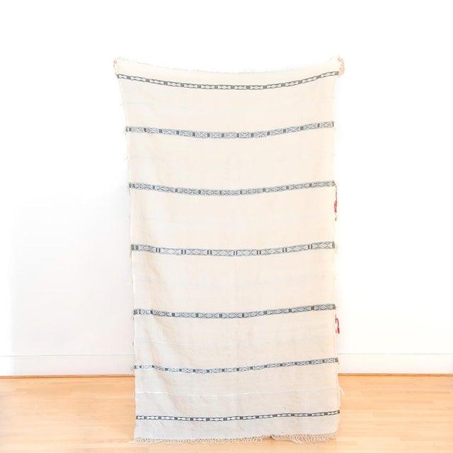 Moroccan Handira Wedding Blanket - Image 3 of 5