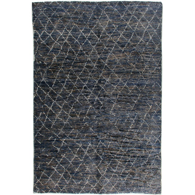 """2020s Stark Studio Rugs Kitto Rug in Navy Blue/White, 10'0"""" x 14'0"""" For Sale - Image 5 of 5"""