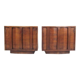 Midcentury Walnut Nightstands For Sale