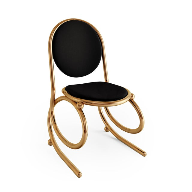 Art Deco 21st Century Custom Made Contemporary One of a Kind Spring Chair For Sale - Image 3 of 5
