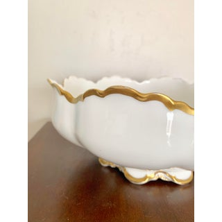 "10"" Vintage Haviland France Limoges White Gilt Serving Bowl Preview"