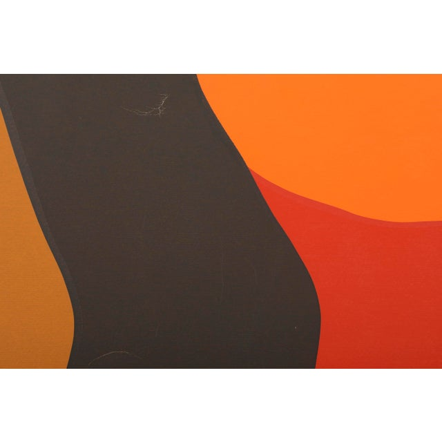 Mid-Century Modern Original Silkscreen by C. Daniel Gelakoska - Desert Sunset, 1977 For Sale - Image 3 of 7