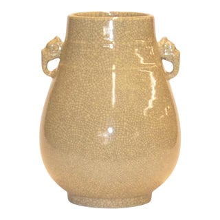 Chinese Ceramic Crackle Vase For Sale