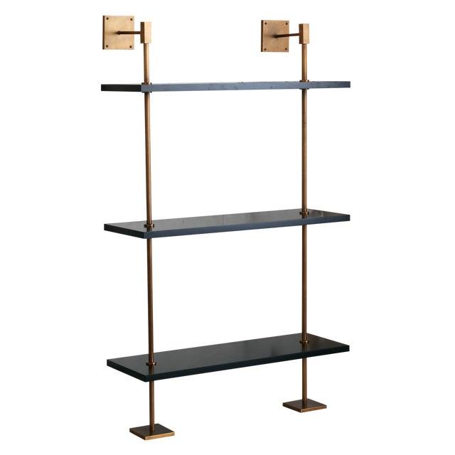 Marais 3-Tier Black & Brass Shelf For Sale