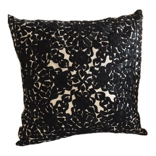 Moroccan Madeline Weinrib Silk Embroidered Pillow For Sale