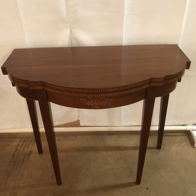 1900s Federal Inlaid Mahogany Game Table For Sale - Image 13 of 13