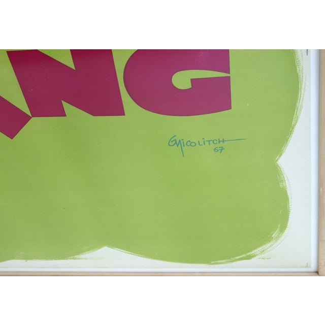 """French """"Camping"""" Lithographic Poster by Obrad Nicolitch, 1967 For Sale In Miami - Image 6 of 10"""