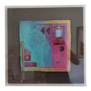 1980s Mixed Media Abstract Collage For Sale