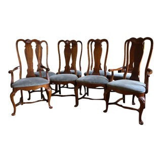 Vintage Bernhardt Traditional Mahogany Dining Chairs - Set of 8 For Sale