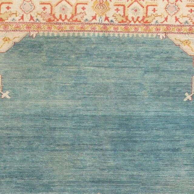 Antique Turkish Oushak Light Blue Rug - 10′7″ × 16′8″ For Sale - Image 4 of 7