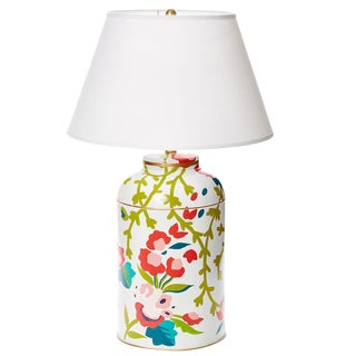Dana Gibson Chintz Tea Caddy Lamp For Sale