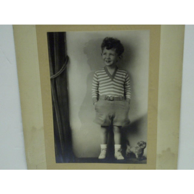 C. 1930 Little Boy Standing Black & White Photograph by Vincent Evans For Sale - Image 4 of 6