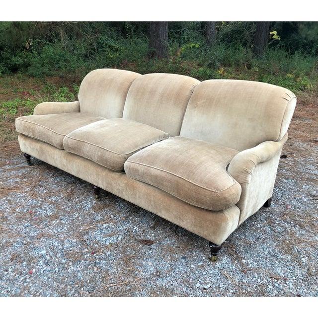 O Henry House Ltd Down Filled Velvet Chenille Sofa For Sale - Image 13 of 13