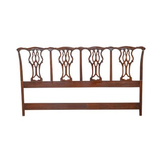 Chippendale Style King Size Solid Mahogany Headboard