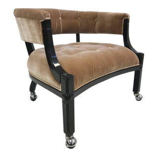 Hollywood Regency Lacquered Slipper Chair For Sale