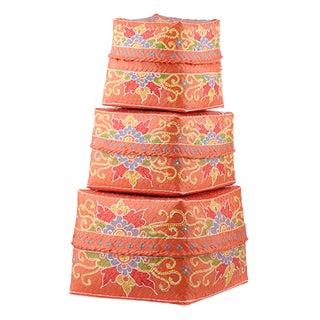 Saffron Floral Design Baskets - Set of 3