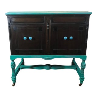 1920s Antique Victrola Cabinet Buffet/Bar For Sale