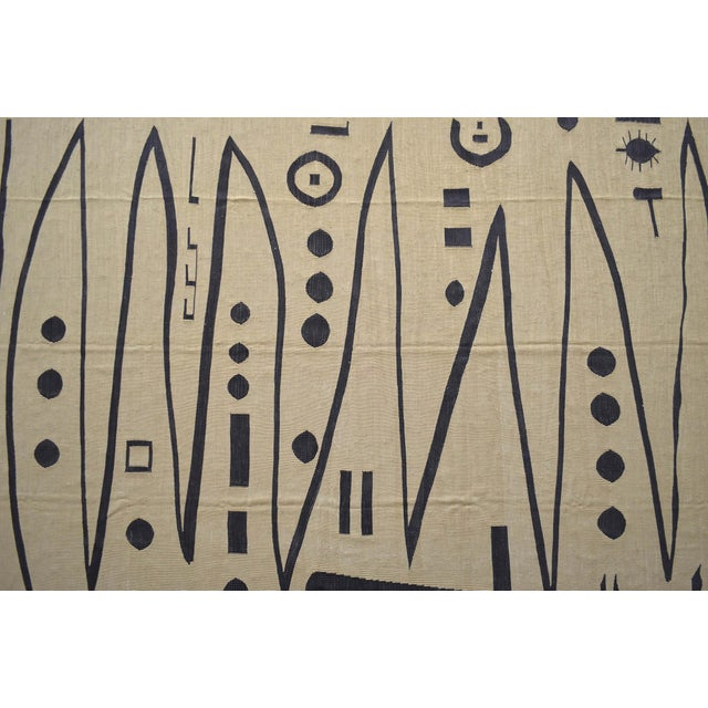 Paul Klee Paul Klee - Heroic Strokes of the Bow - Inspired Silk Hand Woven Area - Wall Rug 5′11″ × 8′5″ For Sale - Image 4 of 12