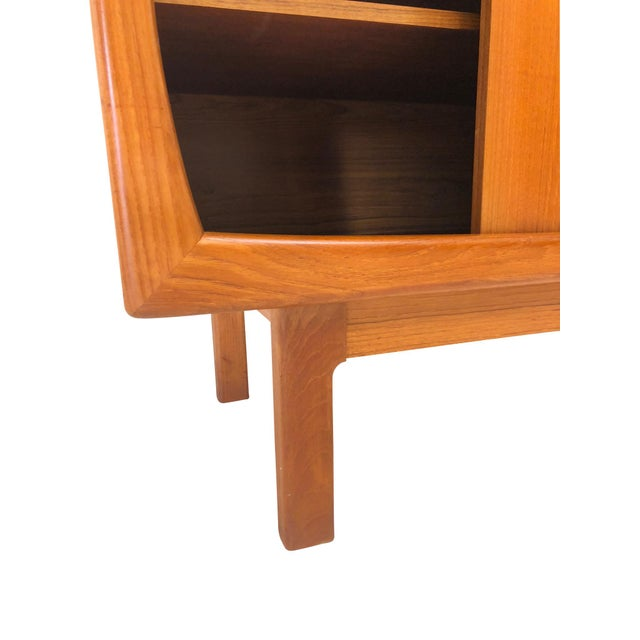1960s Danish Modern Teak Sideboard and Hutch For Sale - Image 5 of 10