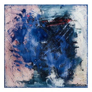 """Tommaso Fattovich """"Untitled - Blue"""", Painting For Sale"""