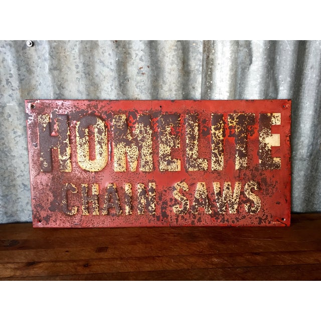 Vintage Chainsaw Advertising Sign - Image 3 of 8