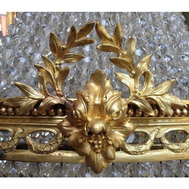 Early 20th C French Bronze and Crystal Chandelier For Sale In Charleston - Image 6 of 6