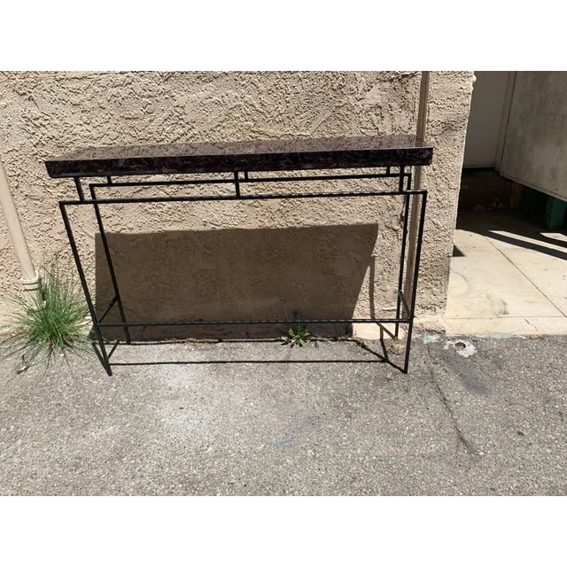 Contemporary Amethyst Penshell and Iron Console Table For Sale - Image 4 of 6