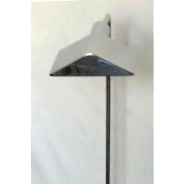 Mid-Century Modern 1970s Cedric Hartman Signed Chrome Floor Lamp For Sale - Image 3 of 9