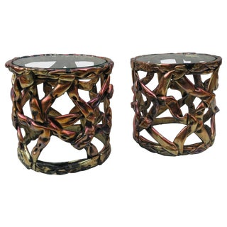 "Pair of Duquette Style ""Ribbon"" Side Tables, 1970s For Sale"