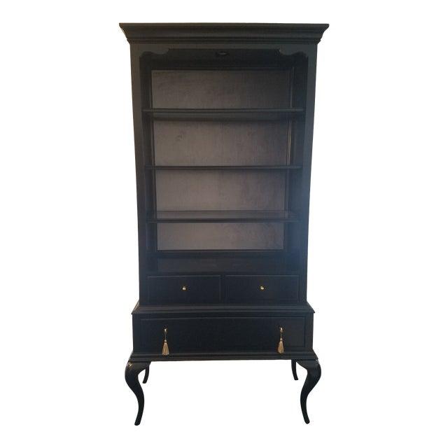 Cynthia Rowley Black Twin Peak Display Cabinet For Sale