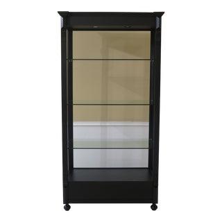 Black Lighted Open Display Curio Shelf For Sale