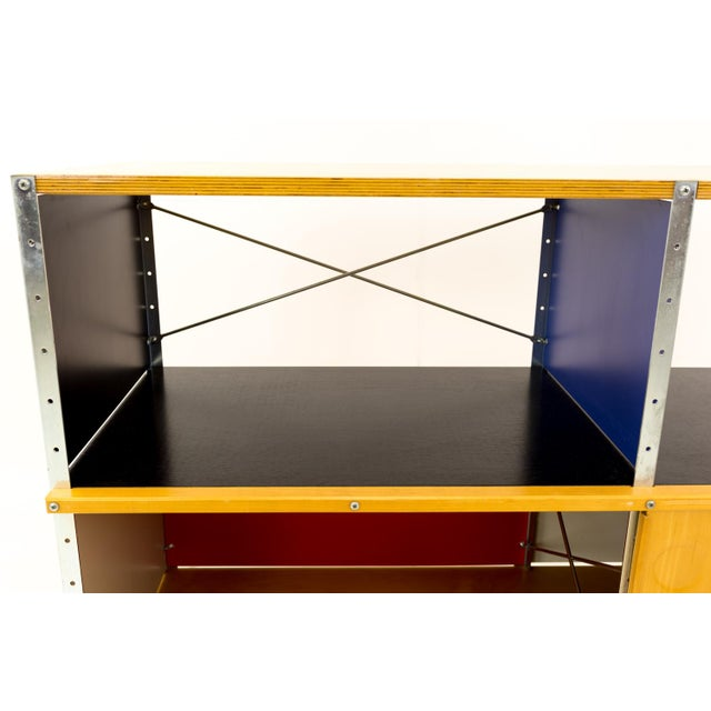 Metal Mid-Century Modern Charles and Ray Eames for Herman Miller Esu Storage Unit Shelves For Sale - Image 7 of 13