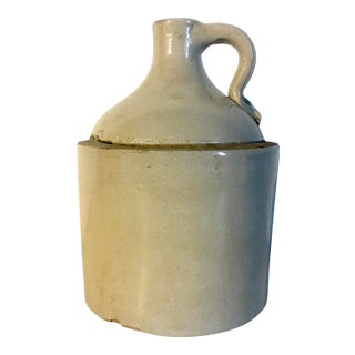 Rustic 19th Century Stoneware Jug For Sale