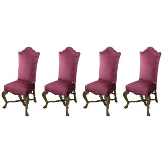 18th Century Venetian High Back Chairs For Sale
