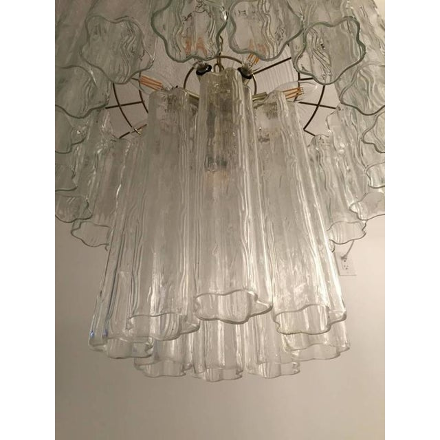 Italian Mid-Century Italian Tronchi Glass Chandelier For Sale - Image 3 of 7