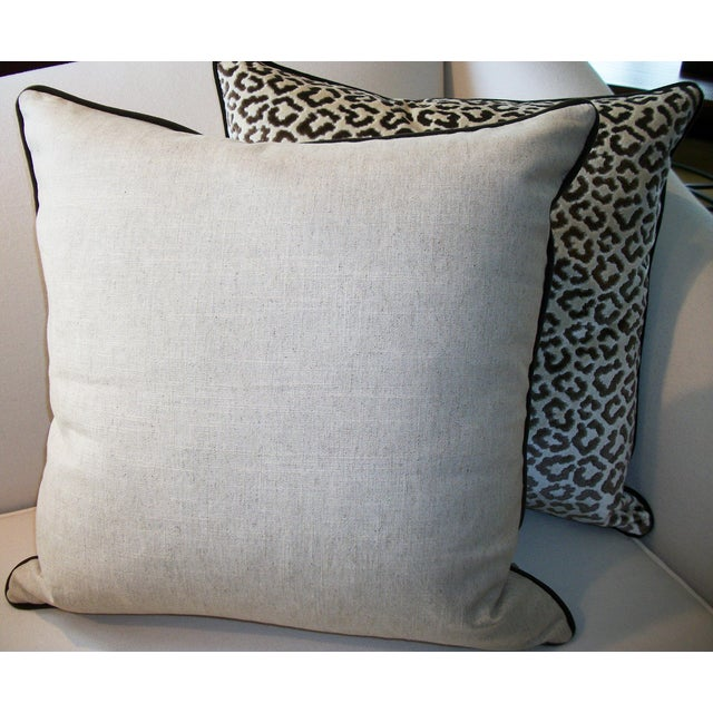 Lee Jofa High End Leopard Velvet Pillows - A Pair - Image 5 of 7