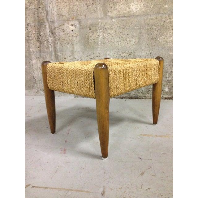 Vintage Mid-Century Woven Rope Footstool - Image 8 of 8