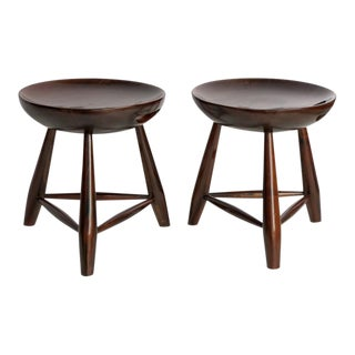 Sergio Rodrigues 'Mocho' Stools - a Pair For Sale