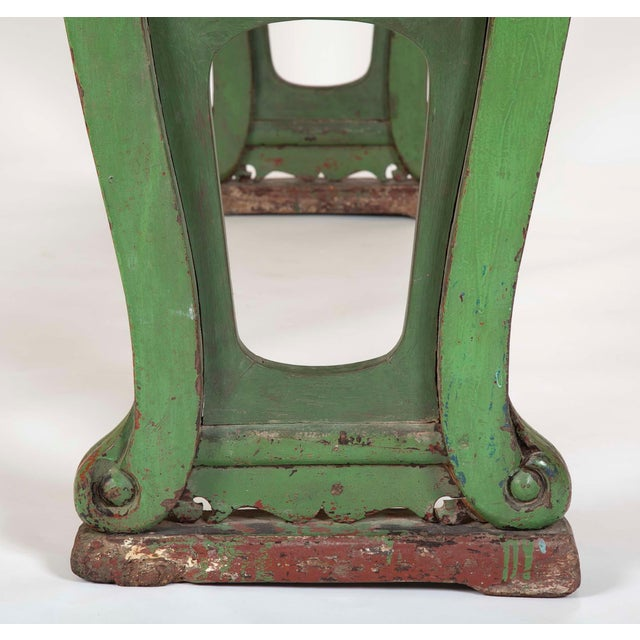 Green Painted Chinese Console Table, Large Scale For Sale - Image 4 of 13