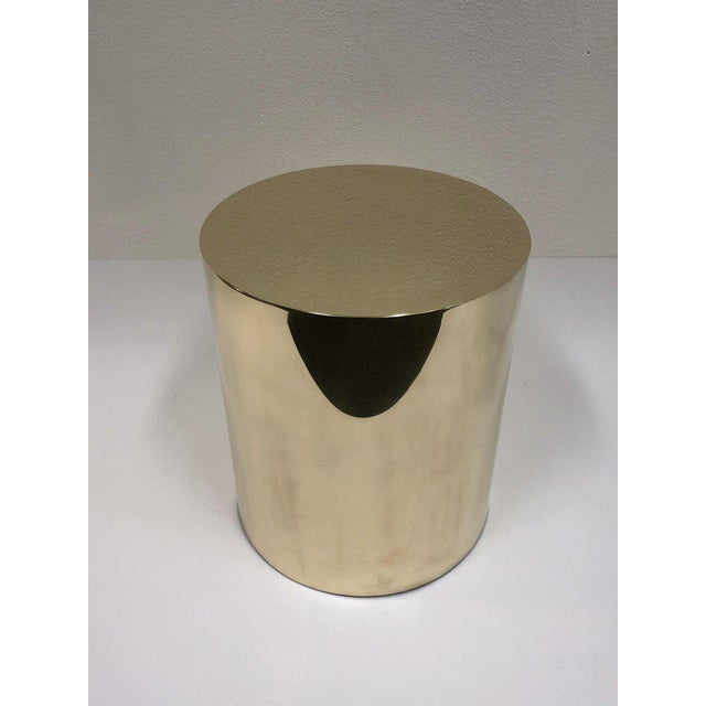 A beautiful polish brass CT drum by Brueton. This is constructed of solid brass polished into a seamless cylinder....