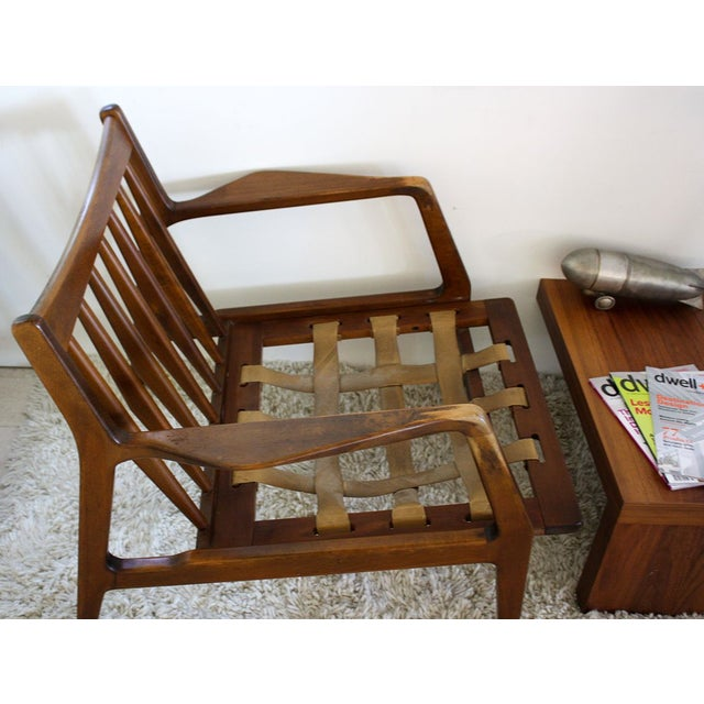 Distressed Pair of IB Kofod Danish Lounge Chairs For Sale - Image 5 of 8