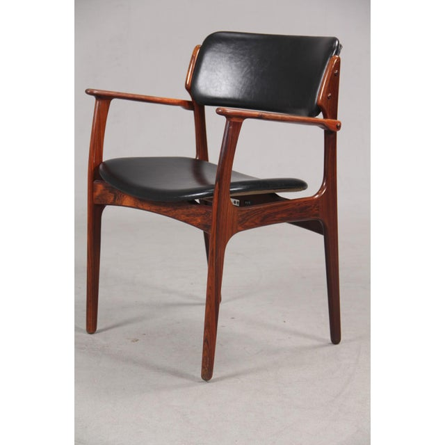 Mid-Century Modern Erik Buch Armchair in Rosewood, Inc. Reupholstery For Sale - Image 10 of 10