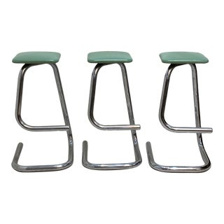 Paper Clip Bar Stools Designed by Hugh Hamilton & Philip Salmon - Set of 3 For Sale