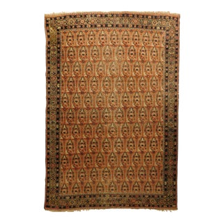 1900 Antique Persian Mahal Rug For Sale