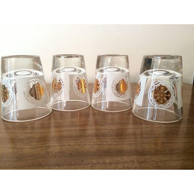 Mid-Century Medallion Shot Glasses- Set of 4 - Image 5 of 5