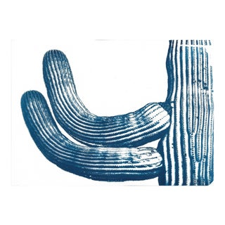Cactus from the Desert Cyanotype Print