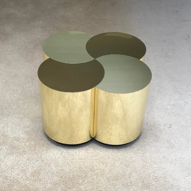 Curtis Jeré Mid-Century Modern Brass Clover Table For Sale In Phoenix - Image 6 of 13